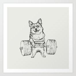Corgi Lift Art Print