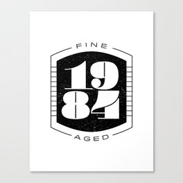 Fine Aged 1984 - Dark Canvas Print