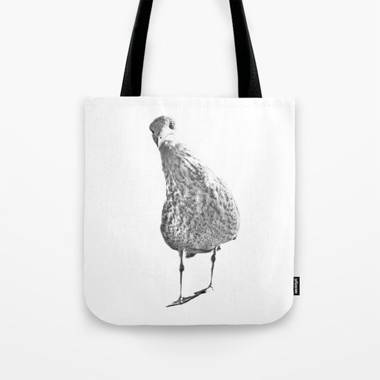 Inquisitive seagull Tote Bag