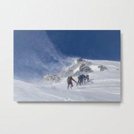 Climbing Montblanc Metal Print