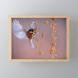 Bird Wings Fluttering Framed Mini Art Print