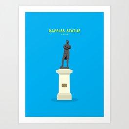 Raffles Statue, Singapore [Building Singapore] Art Print