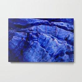 BLUE STONE TEXTURES Metal Print