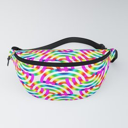 Rainbow Op-Art Pattern Fanny Pack