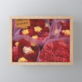 NICE RED FLEURS Framed Mini Art Print