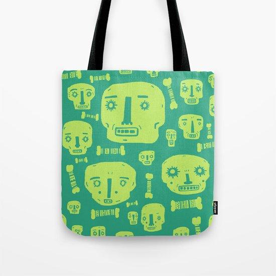 Skulls & Bones I - Green Tote Bag
