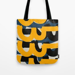 Yellow and blue Zen Abstract Pattern Design Tote Bag