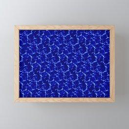 Hyperlink Deep Blue – '90s Water Graphics Framed Mini Art Print