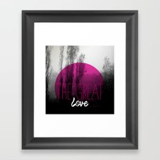 The great love - romantic photography and typography design Framed Art Print