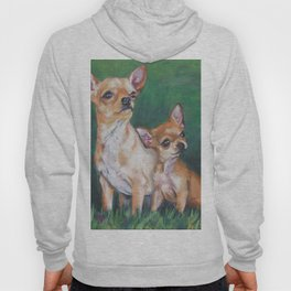 Chihuahua Fine Art Dog Painting from an original painting by L.A.Shepard Hoody