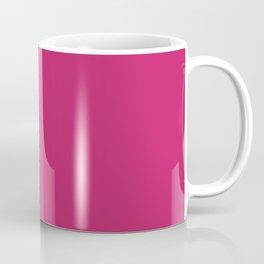 PINK PEACOCK Pure Magenta solid color Coffee Mug