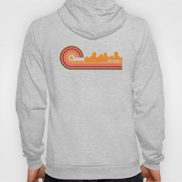 Retro Fort Worth Texas Skyline Hoody