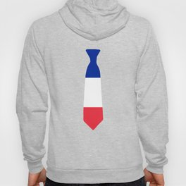 France Patriotic Tie Shirt Hoody