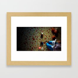 The knitter. Framed Art Print