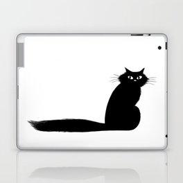 Long Tail Black Cat Laptop & iPad Skin