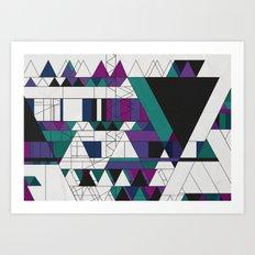 Triangled! Art Print