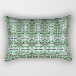 Designer Green Palms Environment Rectangular Pillow