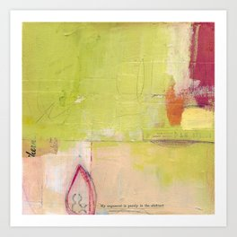 Abstract Argument Art Print