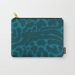 King Cheetah Print in Emerald Teal Carry-All Pouch