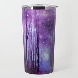 Fantasy Forest Path Purple Pink Travel Mug