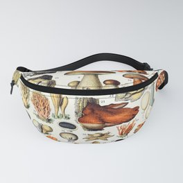 Adolphe Millot - Champignons A - French vintage poster Fanny Pack