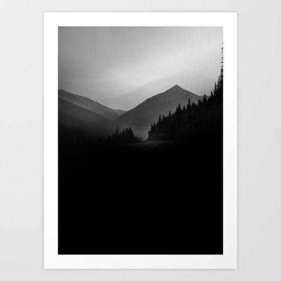 Dusky Mountains Art Print