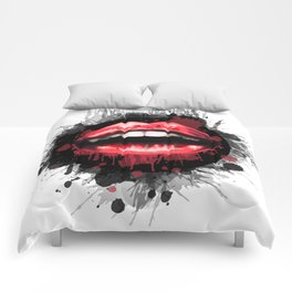 Red Lips Comforters