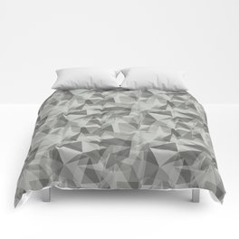 Abstract Geometrical Triangle Patterns 3 Benjamin Moore 2019 Color of the Year Metropolitan Light Gr Comforters