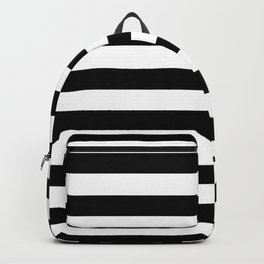 Midnight Black and White Stripes Backpack