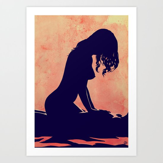 Lovers nr 1 Art Print