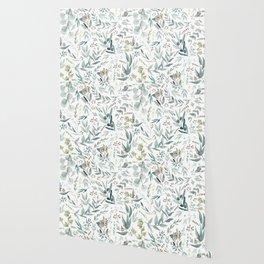 Eucalyptus pattern Wallpaper