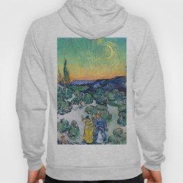 Couple Walking among Olive Trees, Vincent Van Gogh Hoody