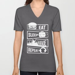 Eat Sleep Rave Repeat - Party Electro Music Event Unisex V-Neck
