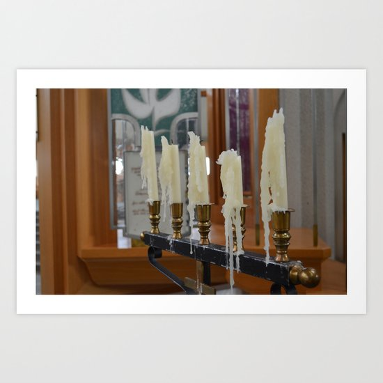 Melted Candles Art Print