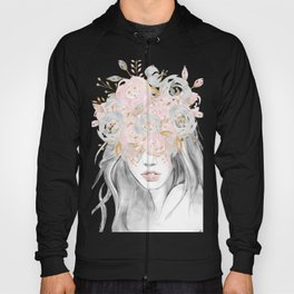 She Wore Flowers in Her Hair Rose Gold by Nature Magick Hoody