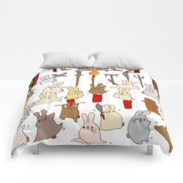 Every bunny was kung fu fighting Comforters