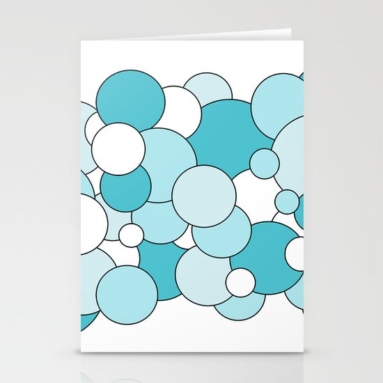 Bubbles - blue and white. Stationery Cards