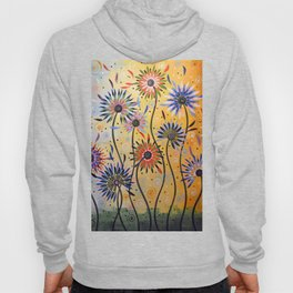 Abstract Art Flowers Floral Original Painting ... Explosion of Joy Hoody