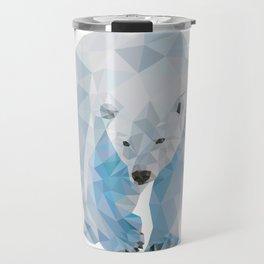 Geometric Polar Bear Travel Mug