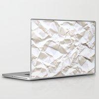 tree Laptop & iPad Skins featuring White Trash by pixel404