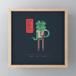 Four Eyed Clover Framed Mini Art Print