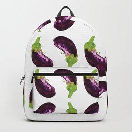 eggplant pattern offset grid, fill, repeating, tiled | elegant Backpack
