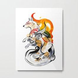 OKAMI AMATERASU I Metal Print