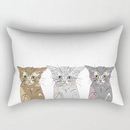 Triple Kitties Rectangular Pillow