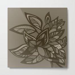 Let Love Grow - Cocoa Metal Print