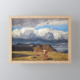 Men and Mountains by Rockwell Kent, 1909 Framed Mini Art Print