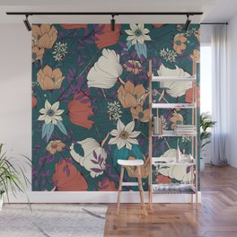 Botanical pattern 008 Wall Mural