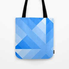 Blue Gradient abstract Tote Bag