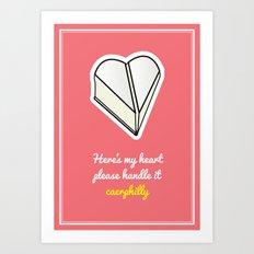 Cheesy Hearts - Caerphilly Art Print