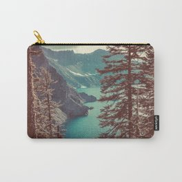 Vintage Blue Crater Lake and Trees - Nature Photography Carry-All Pouch